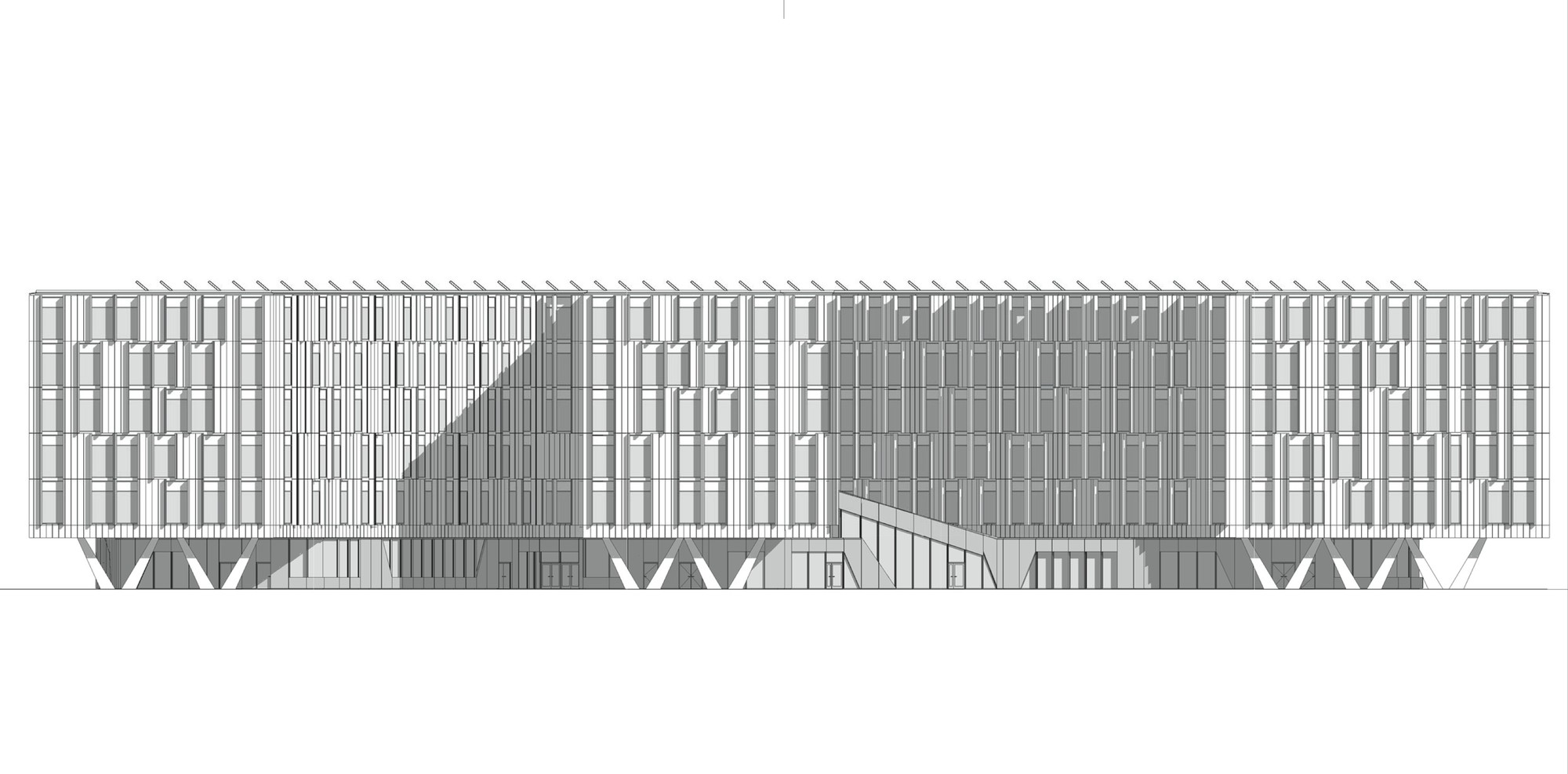 Elevation D Un Plan : Gallery of un city xn
