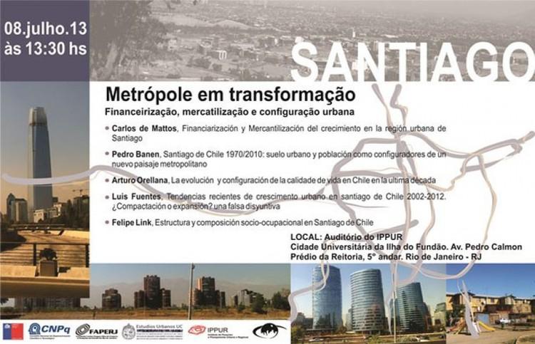"""Seminário """"Santiago, metrópole em transformação"""", Cortesia de Observatório das Metrópoles"""