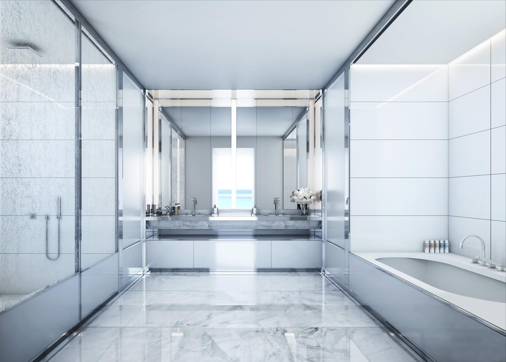 Beach House Bathroom Window Glass Ideas