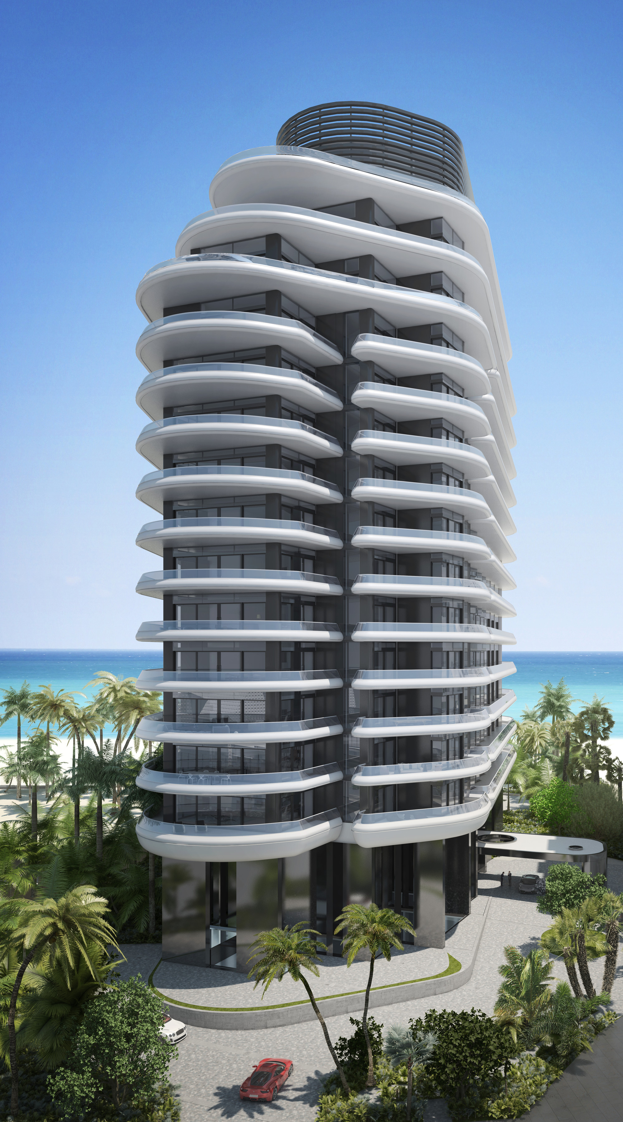 Foster partners release images of luxury condo in miami - Forster architekt ...