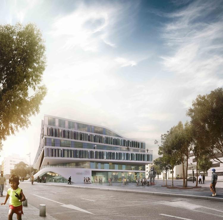 Proposta vencedora para o edifício da Faculdade Técnica / 3XN, © 3XN