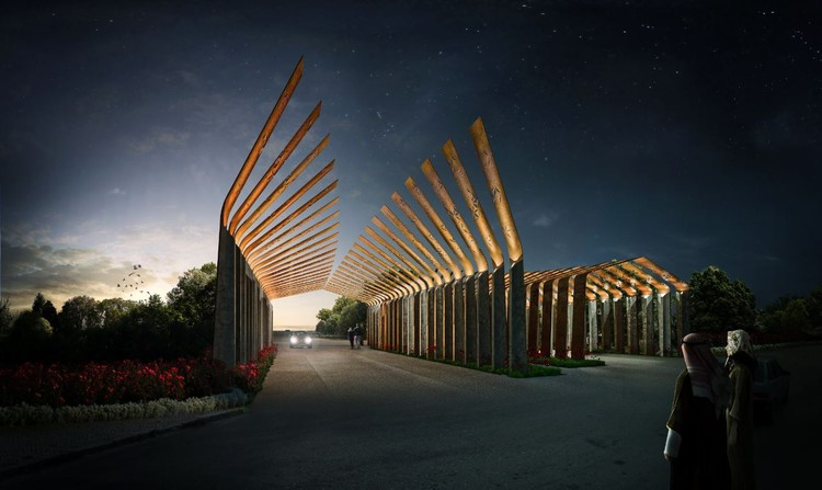 Ryhan Villa Complex Gate Winning Proposal / Waltritsch a+u + Rndr Studio, Courtesy of Waltritsch a+u + Rndr Studio