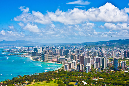 Surprisingly, Hawaii was revealed to have both a very high number of architects, and high levels of pay. Image via Shutterstock