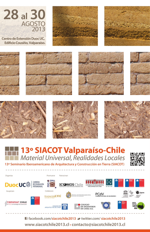 13° SIACOT Valparaíso 2013: Se abre convocatoria para presentación de trabajos