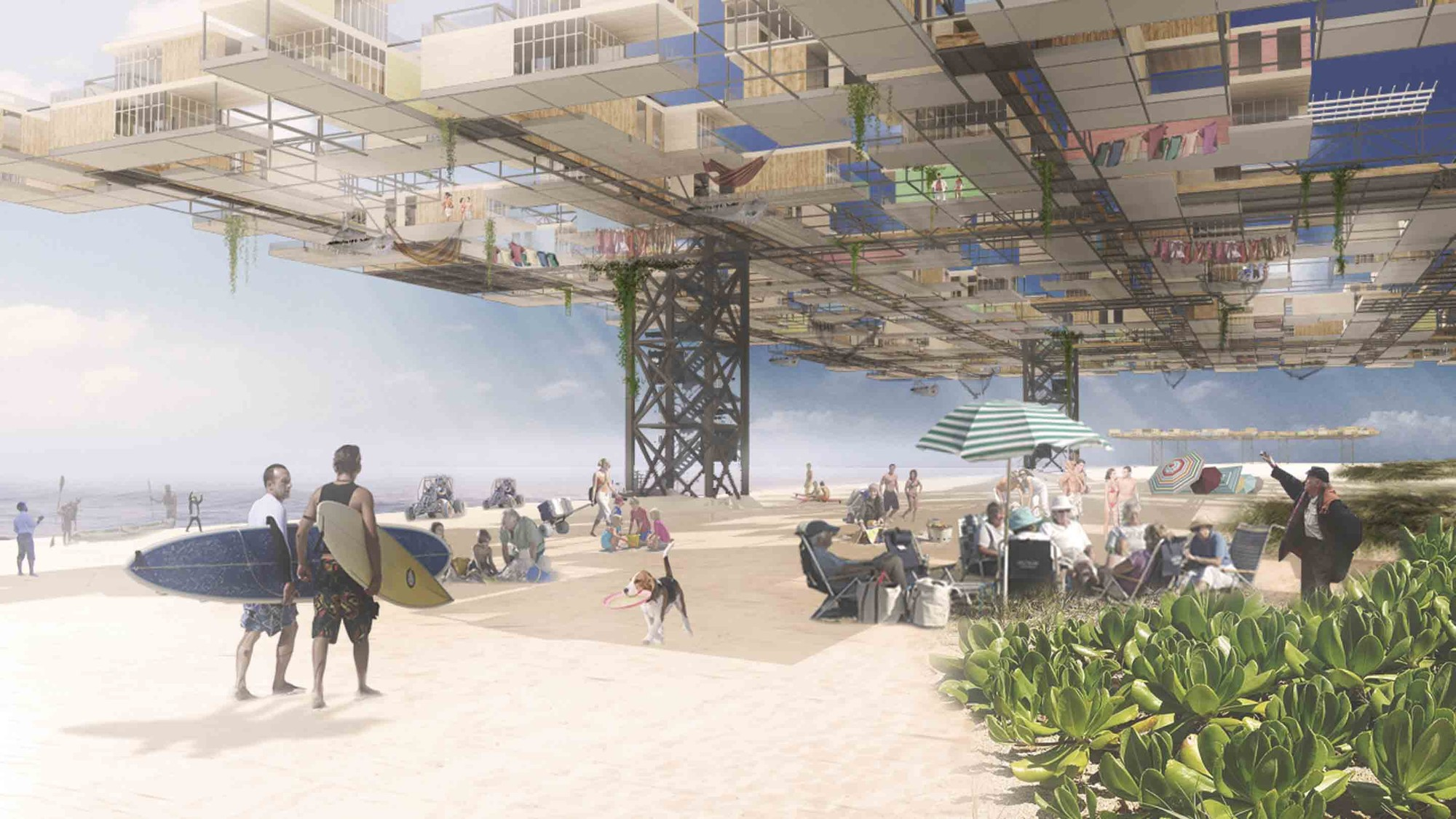 'Yona on the Beach': MOMA PS1 Rockaway Call for Ideas Winning Proposal / Stephen Yablon Architect, Courtesy of Stephen Yablon Architect