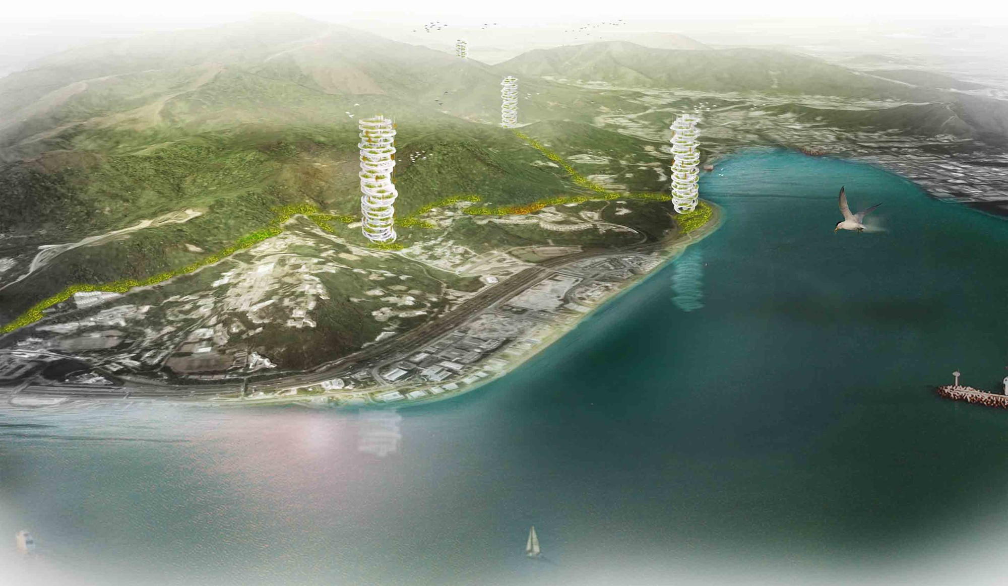 Dyv-net, Dynamic Vertical Networks Proposal / JAPA Architects, Courtesy of JAPA Architects
