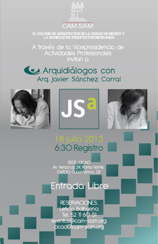 Arquidiálogos con Javier Sánchez