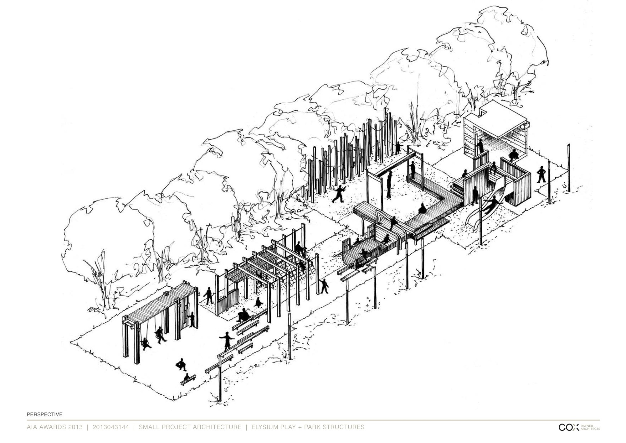 Playground Design Architecture Drawing