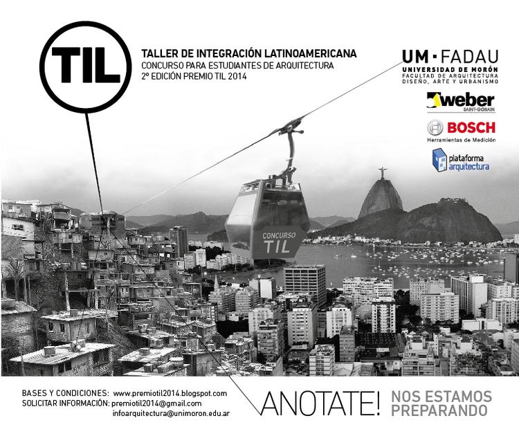 2ª Edição do Concurso para Estudantes de Arquitetura Latinoamericanos, Cortesia de TIL