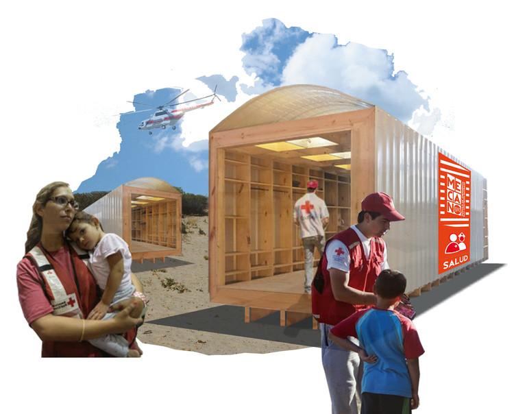 MECANO: Módulo de Emergência para Catástrofes Naturais / IGEO-UM FADAU , Cortesia de Estudio Borrachia arquitectos