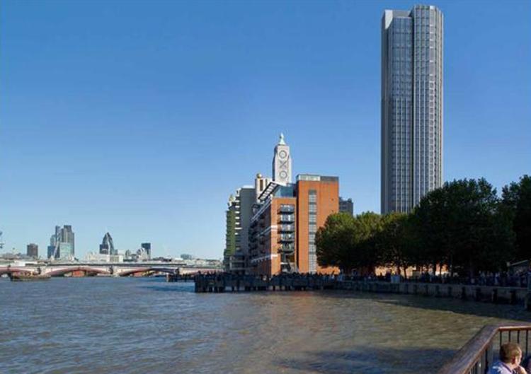 KPF propõe ambiciosa extensão de um edifício de 1970 em Londres , Rendering; Cortesia de KPF