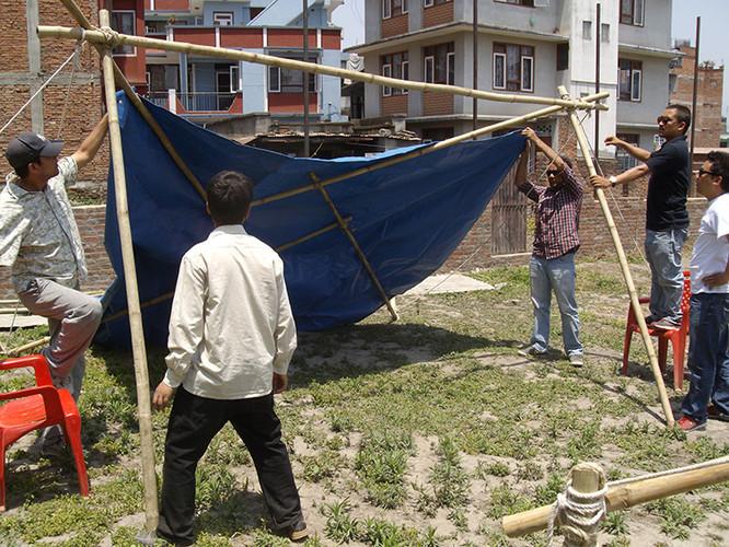 ReciproBoo: Refugio de Bambú puede ser levantado en 20 minutos después de una emergencia, © Reciproboo