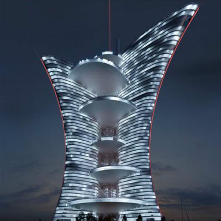Proibida a construção do arranha-céu de Pierre Cardin em Veneza, Cortesia de Palaislumiere.eu