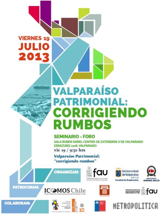 "Seminario Valparaíso Patrimonial: ""Corrigiendo Rumbos"" , Courtesy of FAU"