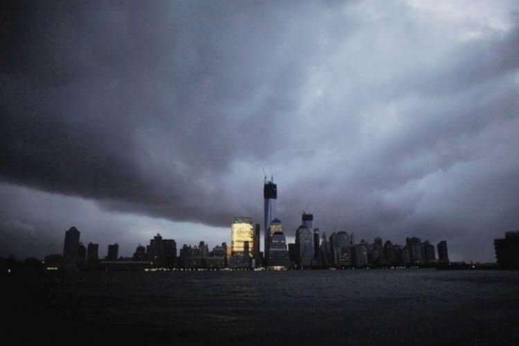Como Nova Iorque pretende se tornar uma cidade à prova de tempestades?, Manhattan momentos antes da tempestade.