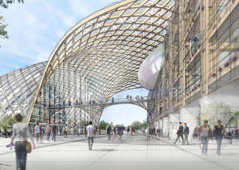 Shigeru Ban proyecta una gran estructura serpenteante de madera para las oficina centrales de Swatch, © Swatch Group