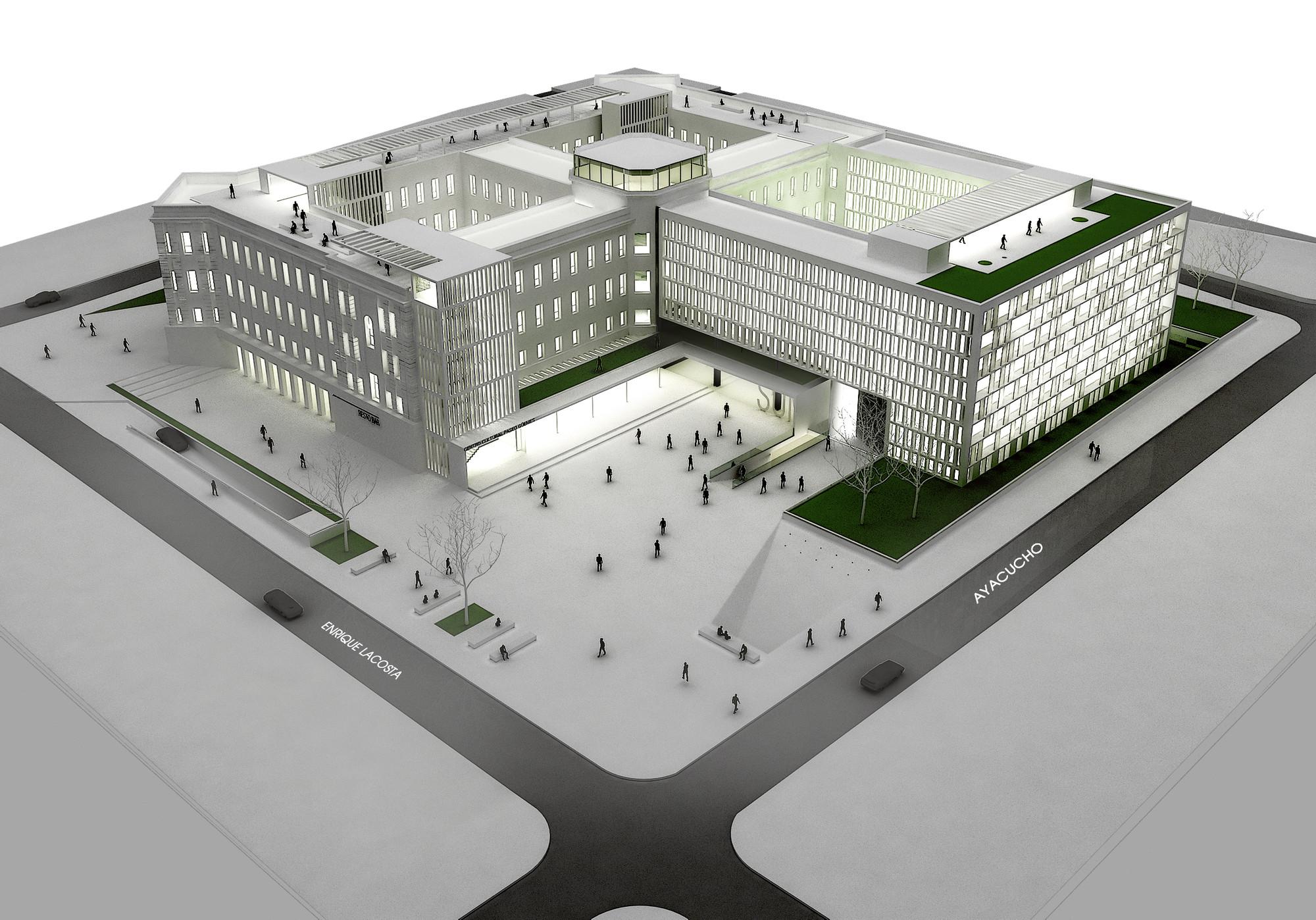 Primer Lugar en Concurso anteproyecto del centro cultural, comercial y residencial Paseo De Güemes, Cortesia de BLOS Arquitectos