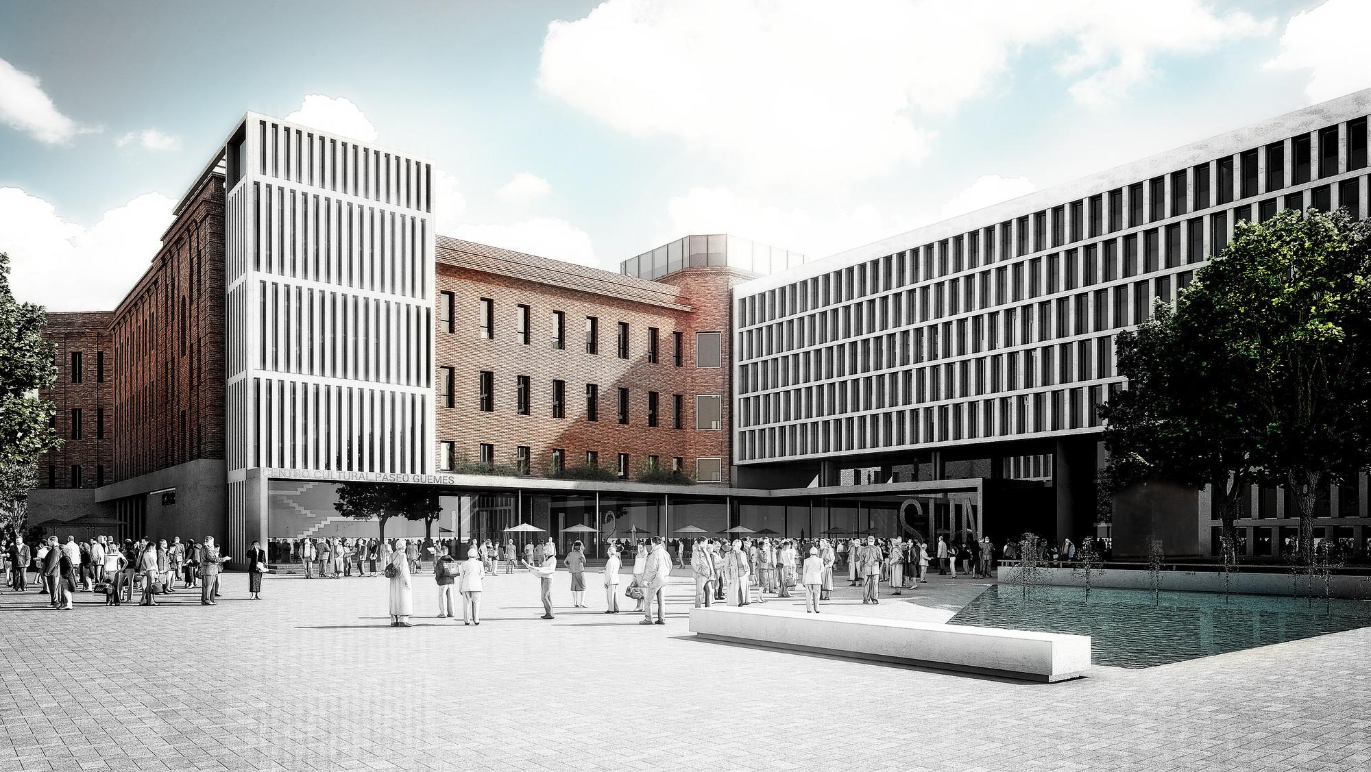 Primer Lugar en Concurso anteproyecto del centro cultural, comercial y residencial Paseo De Güemes