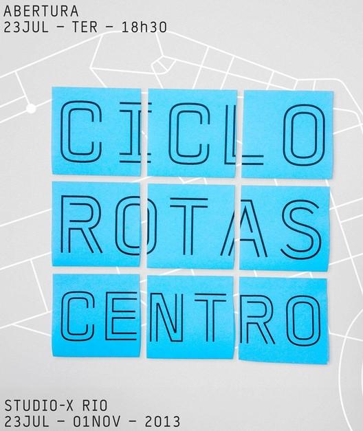 """Exposição """"Ciclo Rotas Centro - Uma malha cicloviária para o Centro do Rio de Janeiro"""""""