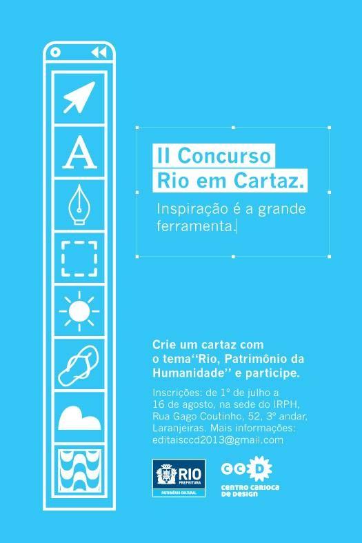 II Concurso Rio em Cartaz – Inscrições Abertas