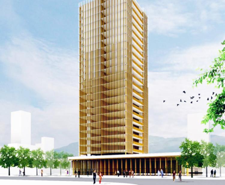 Michael Green: Por que devemos construir arranha-céus de madeira, Courtesy of Michael Green Architecture