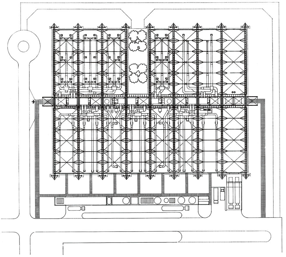 AD Classics: Inmos Microprocessor Factory,Courtesy of Richard Rogers  Partnership