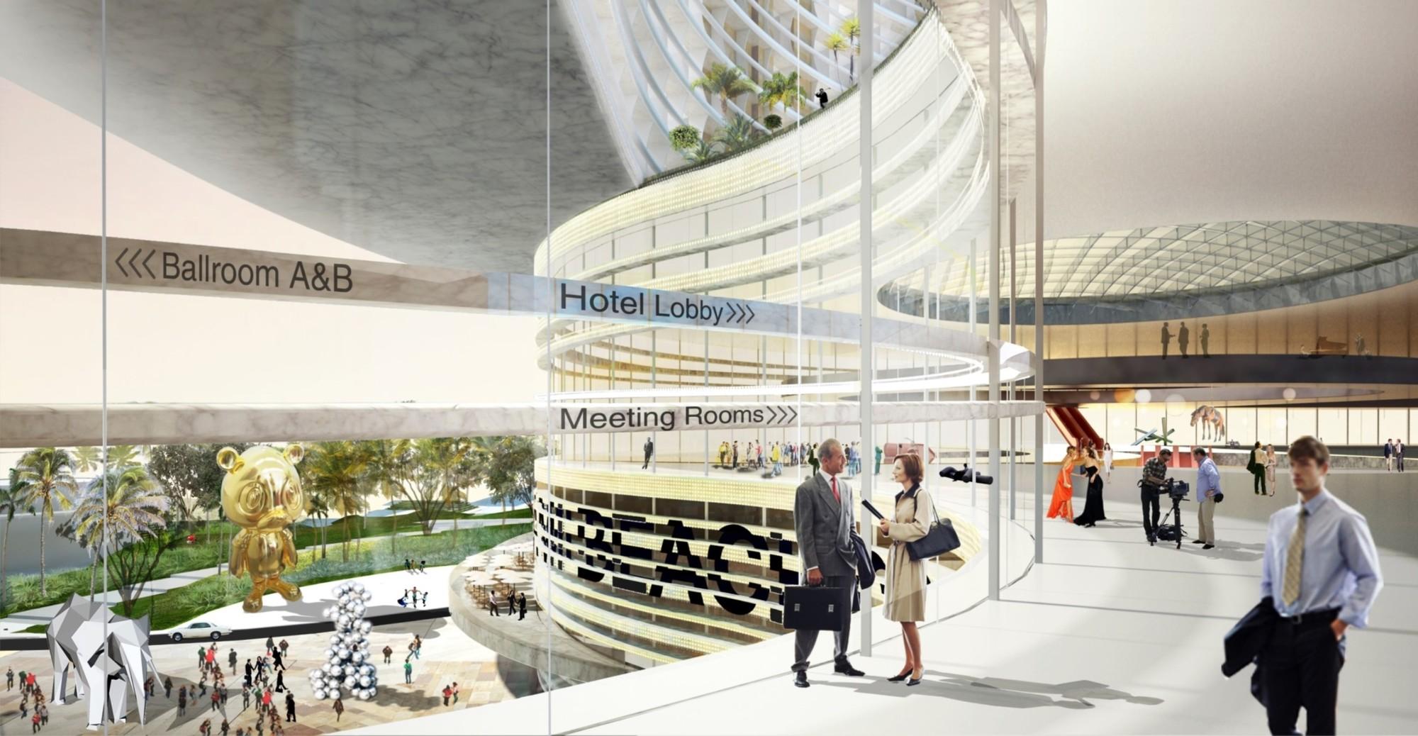 Miami Beach Convention Center Winning Proposalcourtesy Of Oma Miami Interior Design Convention