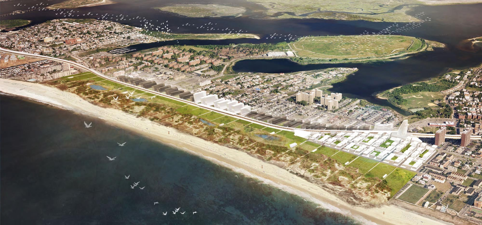 Finalists Announced for FAR ROC Competition for Resilient Rockaways, © McGregor Coxall