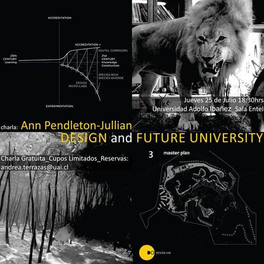 """Charla UAI """"Diseño Eco-sistémico y enfrentar el Futuro de la Educación Superior"""", Courtesy of UAI"""