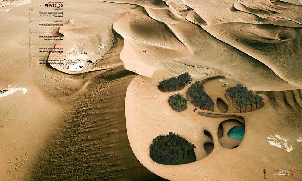 Projeto usa bactérias para criar abrigos em desertos