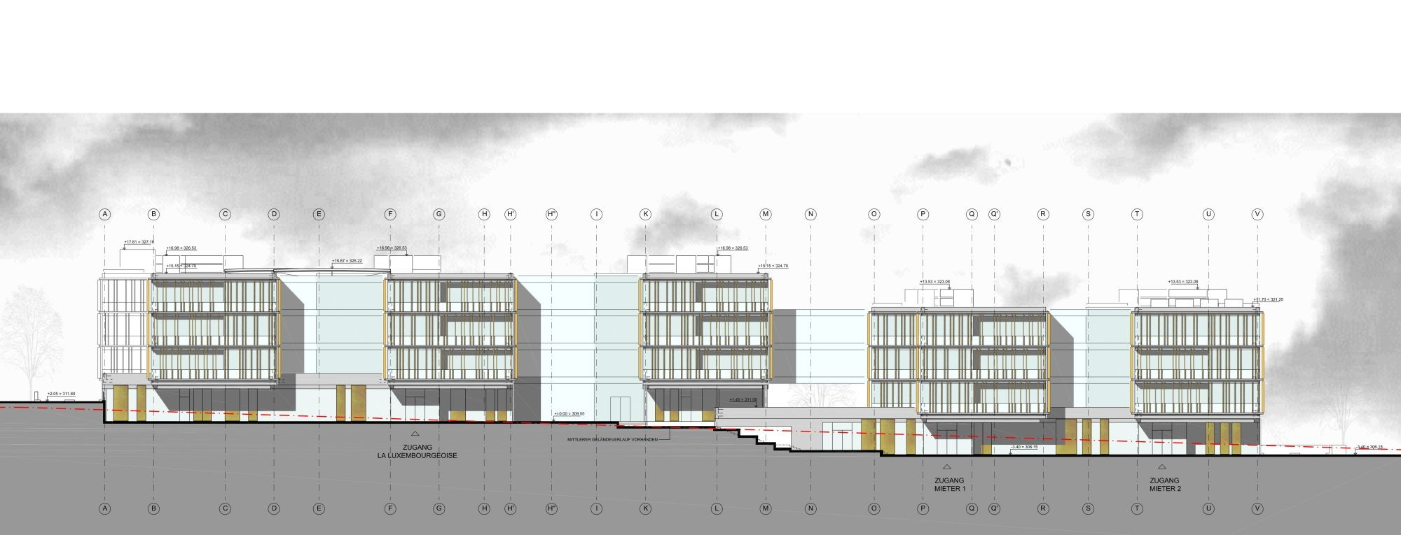 Building Elevation Plan Part - 41: Lalux Assurances Headquarters / Jim Clemes Atelier D´Architecture Et De  Design