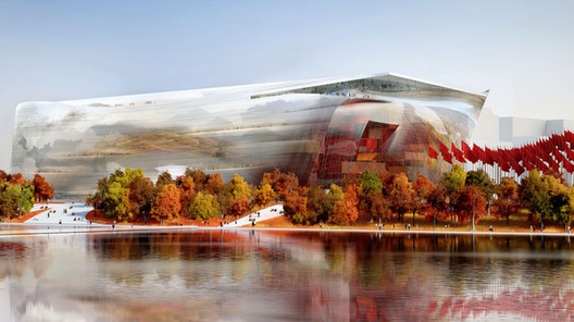 Jean Nouvel Named as Winner of National Art Museum of China Competition, Jean Nouvel's Winning NAMOC Proposal