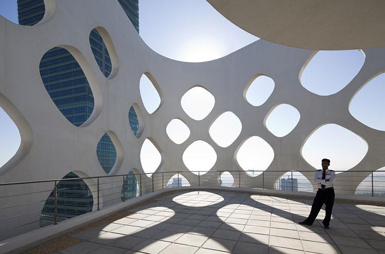 A Peek Into Reiser + Umemoto's Latest Book, The O-14 building in Dubai, the subject of Reiser + Umemoto's latest book