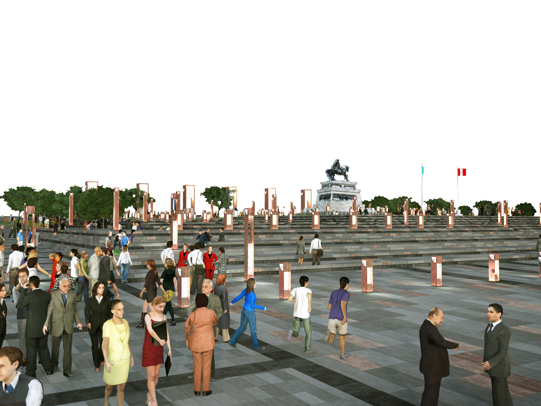 Primer Lugar Concurso Plaza Mayor Y Eje Turístico Cultural Centro Histórico De Huamanga / Perú, Courtesy of VORTICE arquitectos