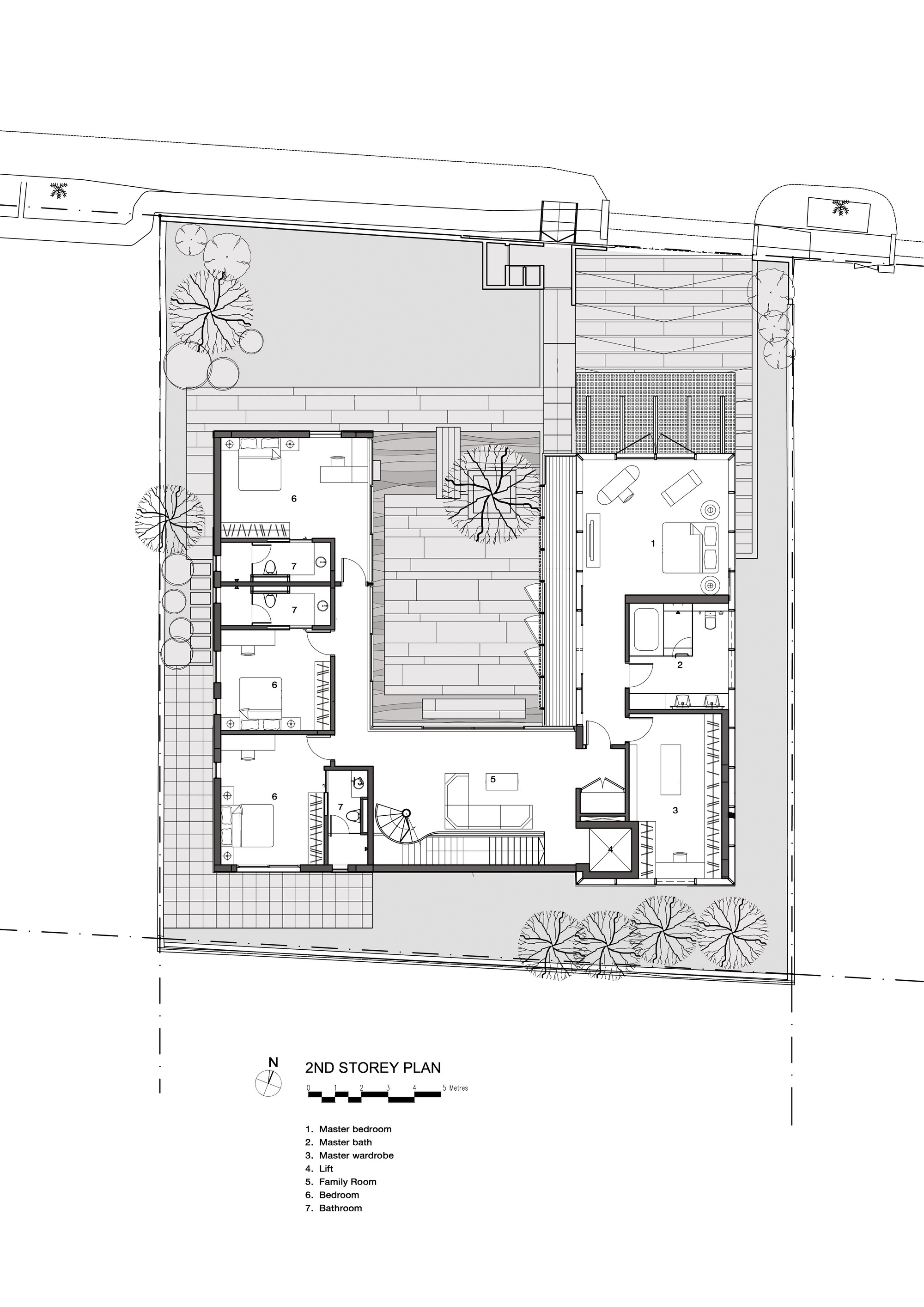 The courtyard houseplan