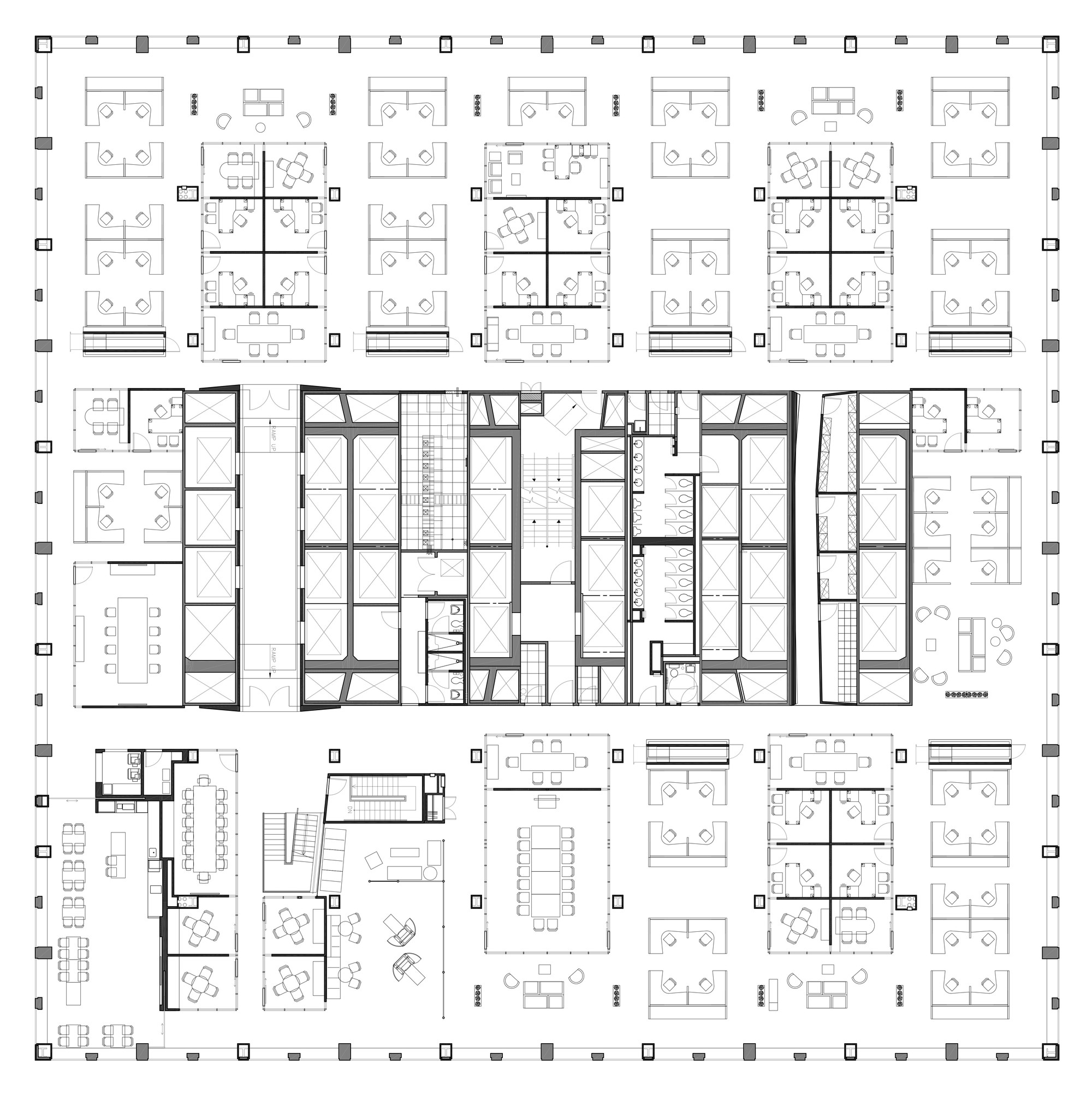 Company Floor Plan Part - 16: Midtown Financial Company / A + I Architecture. 12 / 14. Seventh Floor Plan