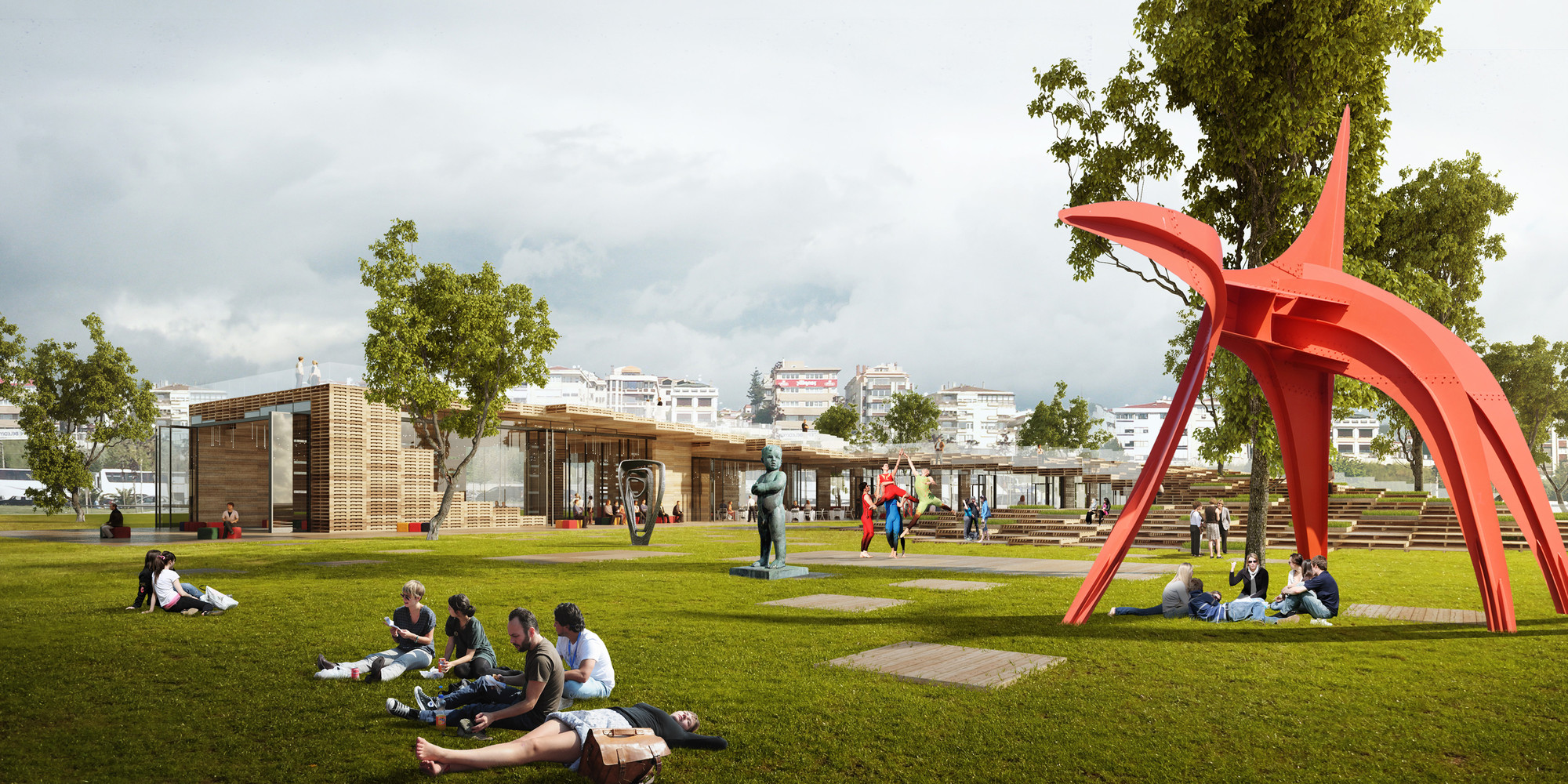 Litterfall Social and Cultural Center Competition Entry / Ziya Imren Architects, © Vizarch.Cz / Petra Grísová, Josef Veselý, Vratislav Zíka