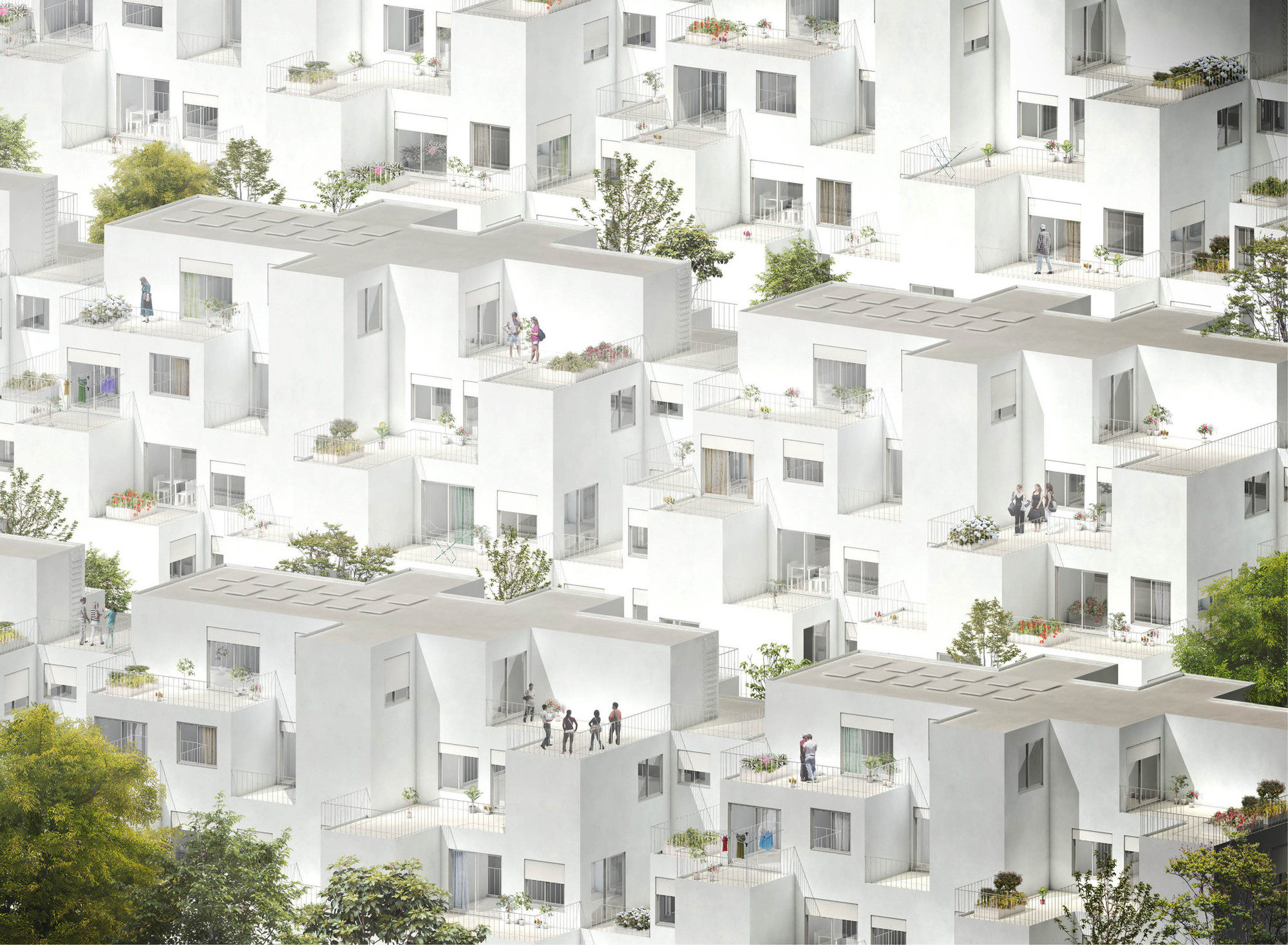 Alvenaria Social Housing Competition Entry / fala atelier, Courtesy of fala atelier