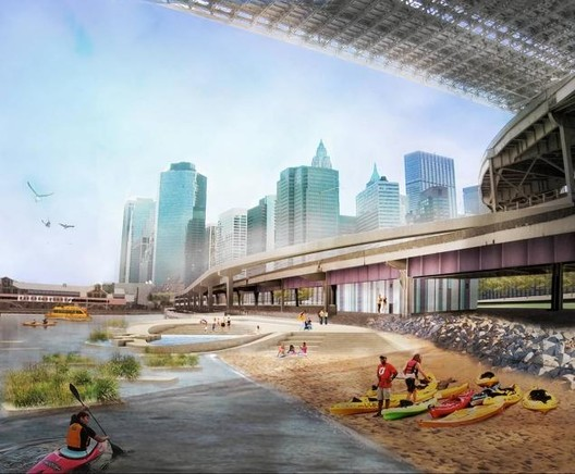 New York Announces Plans to Build Brooklyn Bridge Beach, via NYDaily News