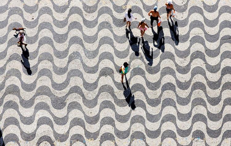 Concurso de fotografias celebra obra de Burle Marx, Calçadão da orla de Copacabana