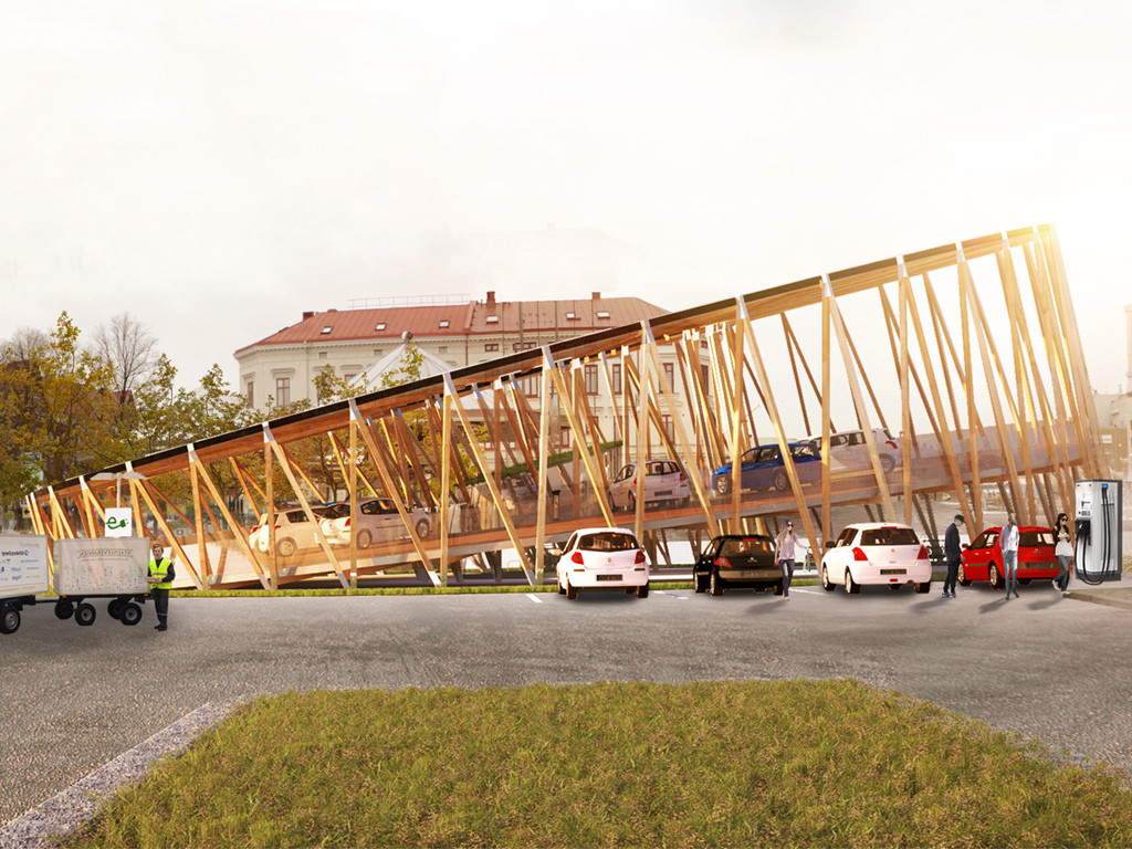 KKA Designs Electric Vehicle Charging Stations in Sweden , Courtesy of Kjellgren Kaminsky Architecture