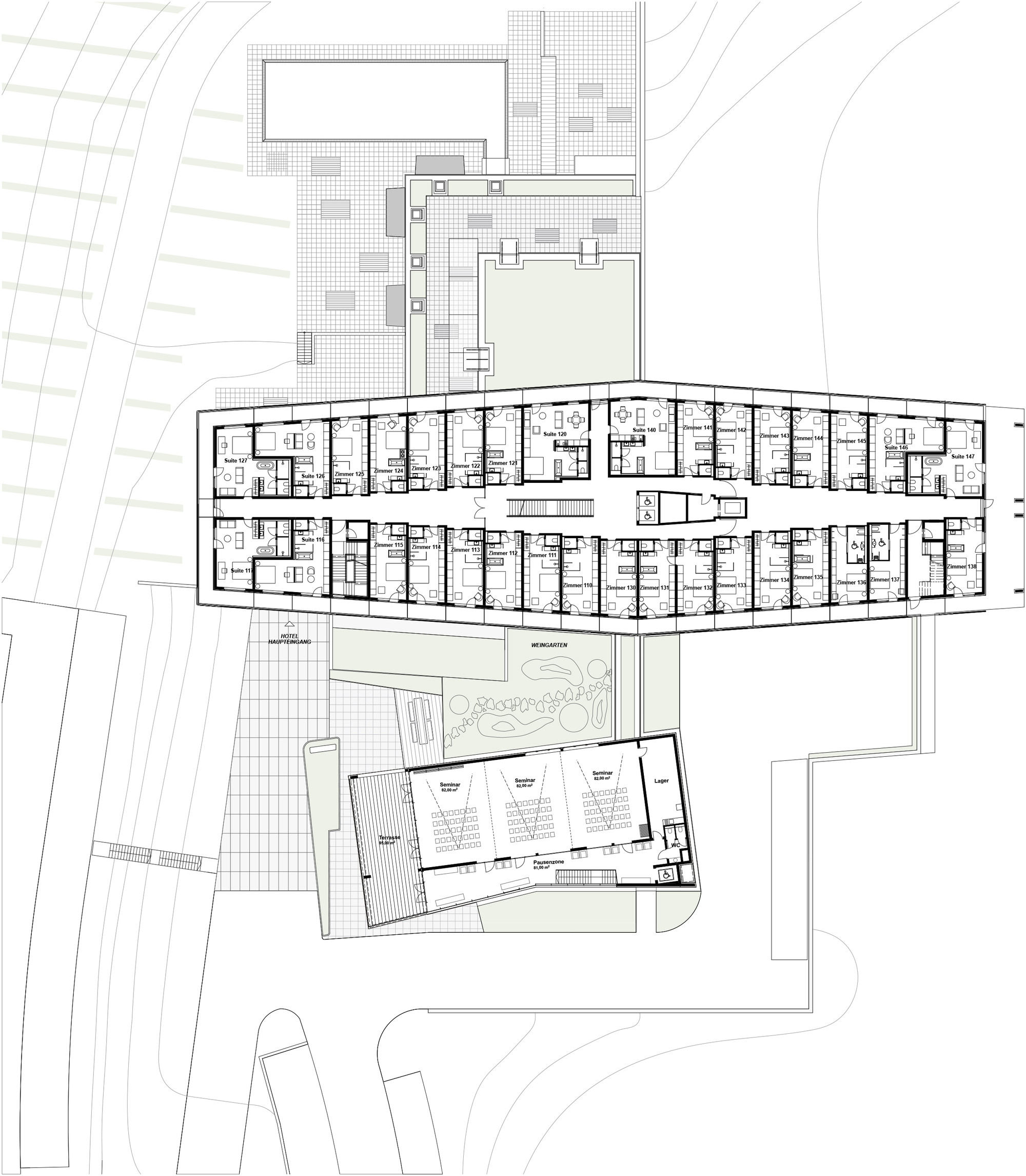 Gallery of loisium wine spa resorts southern styria for Winery floor plans by architects