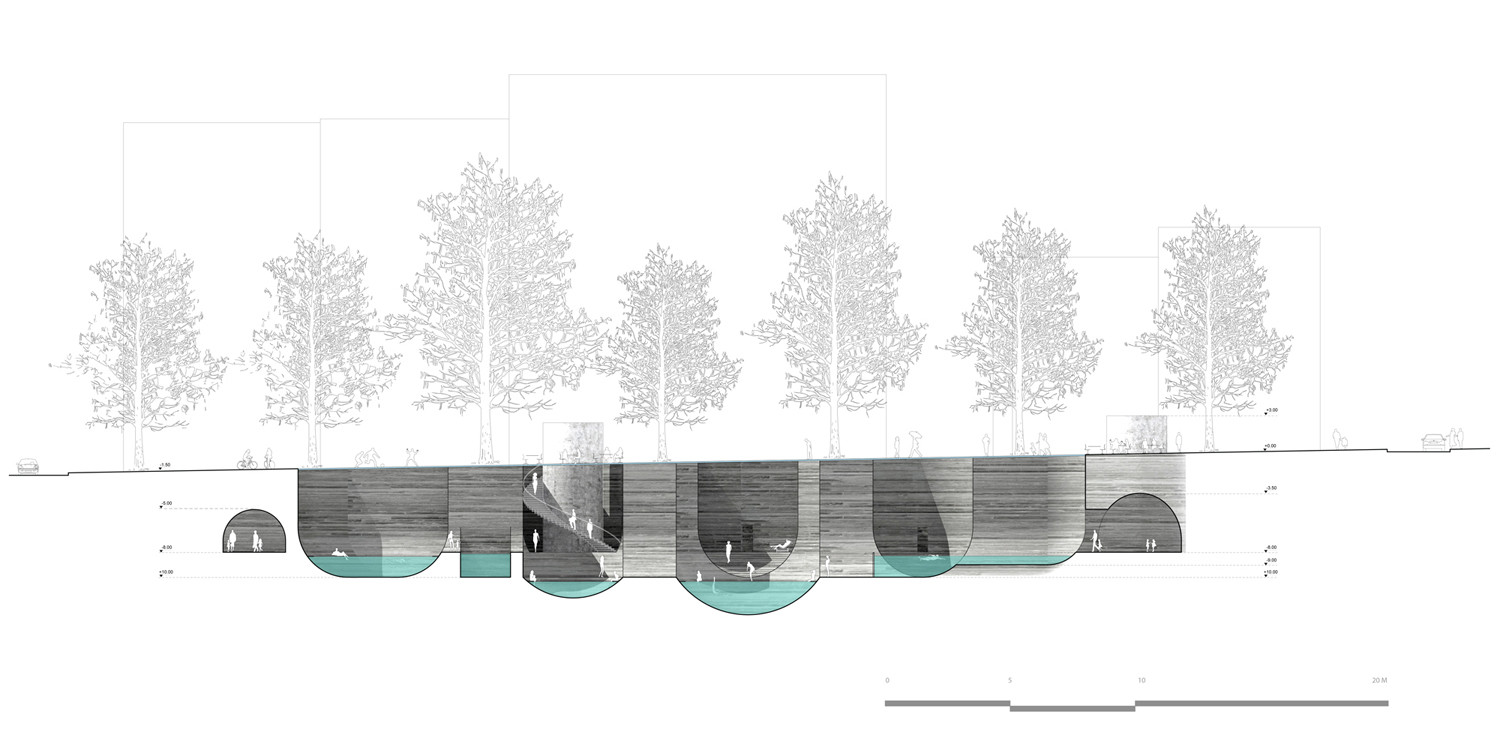 Gallery of 39 thessaloniki 39 s wet dream 39 thermal bath complex for Landscape architects bath
