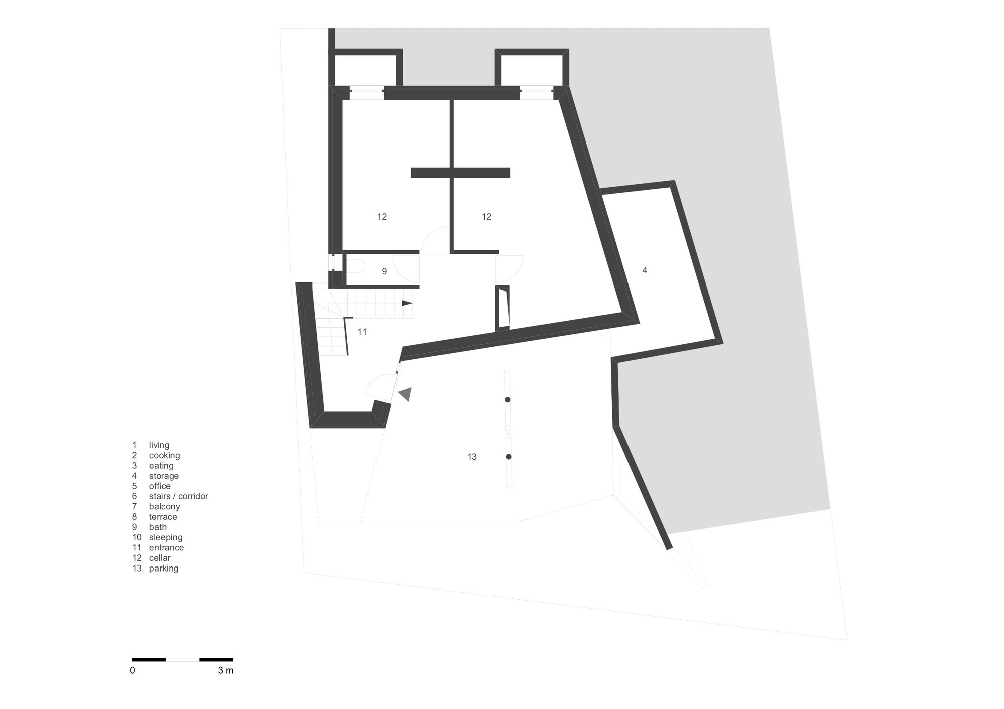 Cube House,First Floor Plan