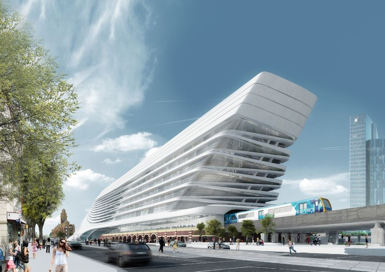 Proposta finalista para a Estação Flinders Street / Zaha Hadid Architects + BVN Architecture, © Visual Arch