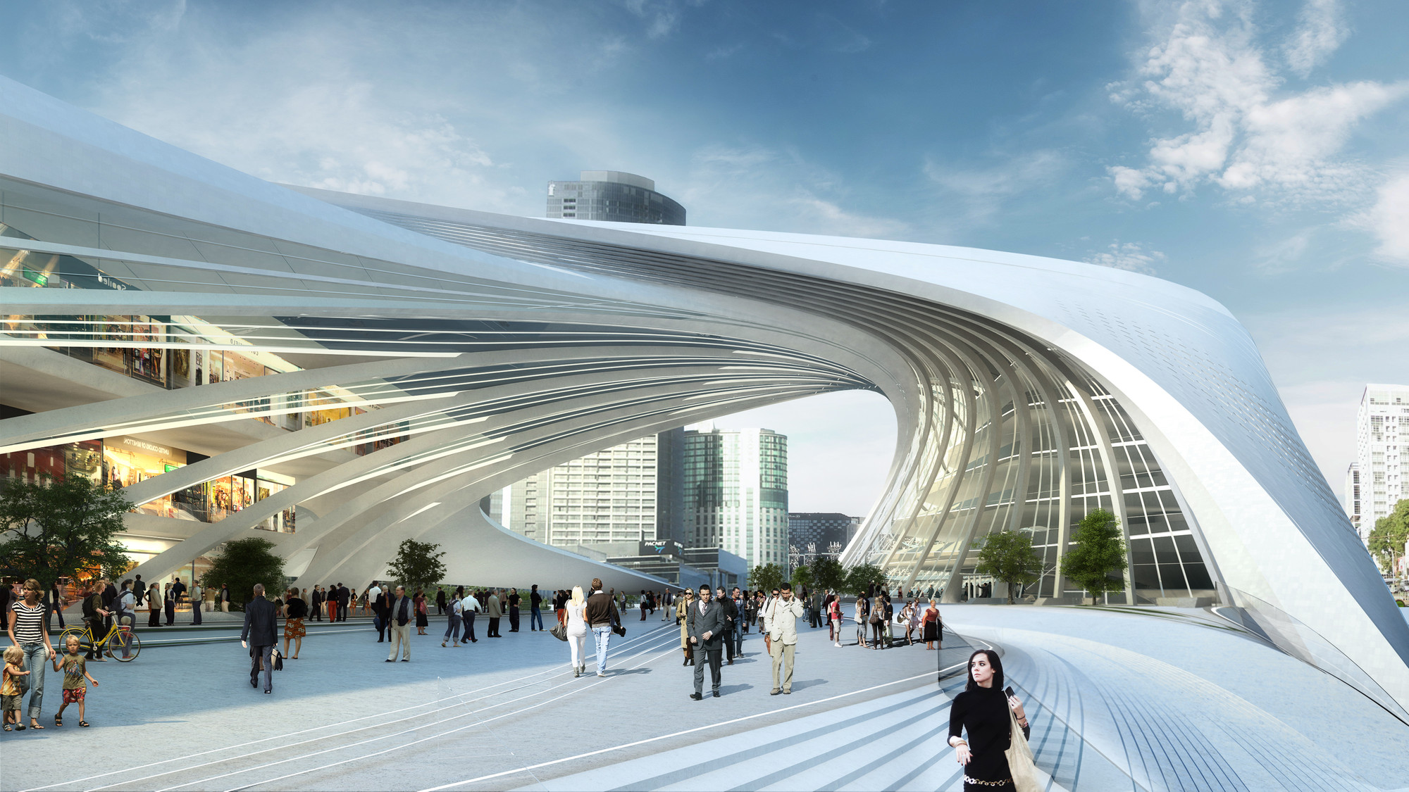 The flinders street station shortlisted proposal zaha hadid architects bvn architecture - Britains most modern buildings the contemporary design competition ...