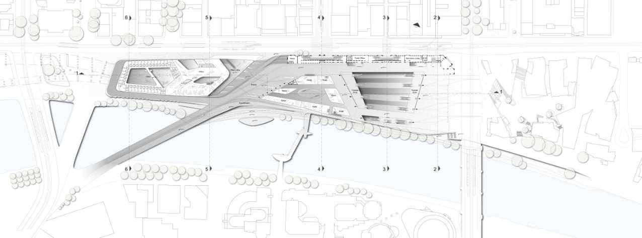 Gallery Of The Flinders Street Station Shortlisted Proposal Zaha Hadid Architects Bvn