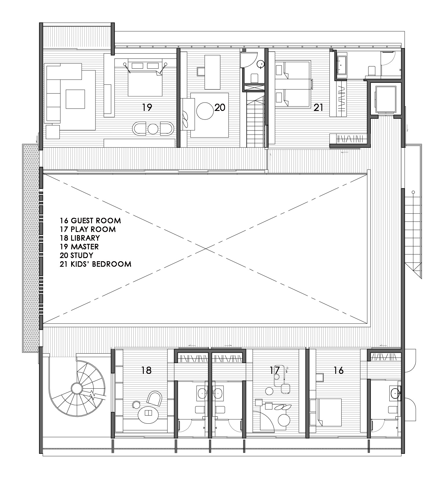 gallery of the courtyard house formwerkz architects 13 the courtyard house formwerkz architects 13 17 second floor plan