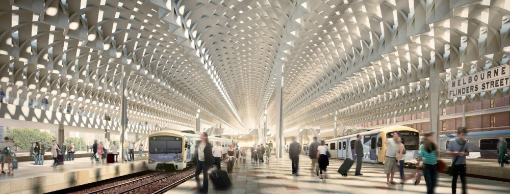 Winner Announced for Flinders Street Station, Courtesy of HASSELL + Herzog & de Meuron