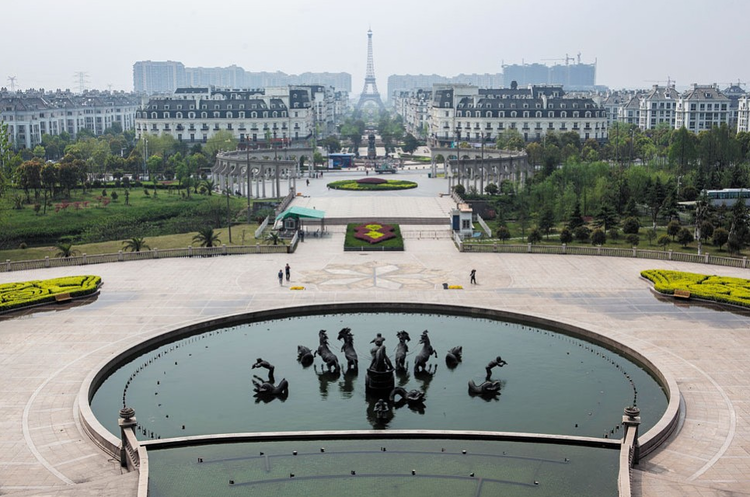 Uma Paris fantasma na China, Cortesia de nextventured